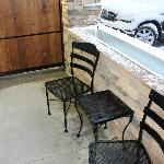 Our covered patio, would be great if weather were nice!