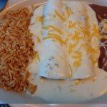 chicken enchiladas and sour cream sauce