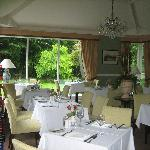 The elegant dining room at the Grasmere