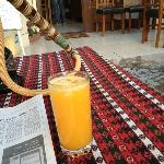 orange juice at the cafe