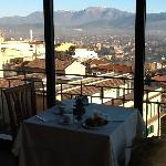 Breakfast room at Hotel Garibaldi was the perfect place to plan our travel strategy for the day.
