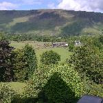 view across to maiden moor from room one