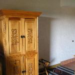 tv cabinet, lower portion held a small fridge