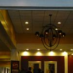 The entry area had a nice chandelier.