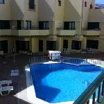 pool, from the balcony