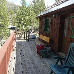 deck balcony in front of motel room 4