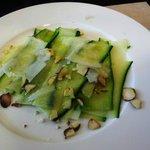 Zucchini carpaccio appetizer