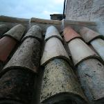 Roof tile near dining terrace