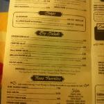 other half of menu