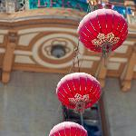 Hanging lanterns in Chinatown