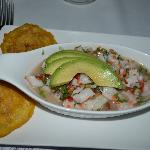 ceviche with parrot fish