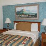 Queen bed in separate room