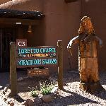 Loretto Chapel next door to Hotel