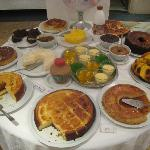 The breakfast dessert table