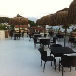 the new roof top terrace
