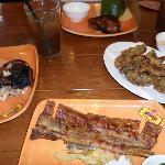 Grilled chicke, lechon kawali & chicharon bulaklak