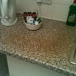 Stained work surface