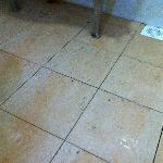 Dirty floor with stains