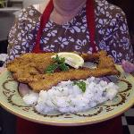 Pork Schnitzel with German Potato Salad