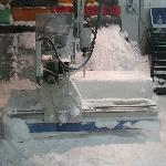 CNC Machine carving ice