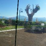 View across Lake to Monte Baldo from breakfast/dining room
