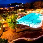 Family Pool at Night