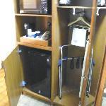 microwave, fridge, iron, luggage rack, etc.