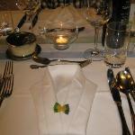Ein liebevoll gedeckter Tisch - das Auge isst mit...