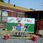 Take your memorable picture here at Shore Beef & BBQ