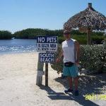 One of the 2 private beaches at Key Largo Kampground