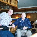 My Grandfather and I in the hotel Bar