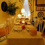 Our parlor room turned into a very nice place for our guests to have breakfast, for the 1st time