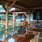 Dining area of the La Terraza Hostal