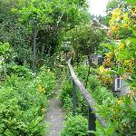 the garden path up to the parking