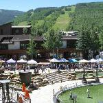 Balcony view of Vail with Farmers Market