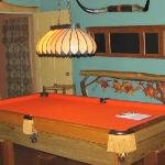 Pool table in the lower level