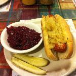 Bratwurst w/SauerKraut & Red Cabbage