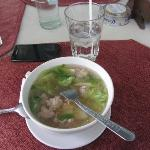 Glass noodle soup with pork