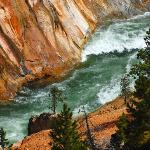 Closeup of Yellowstone River