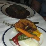 Peppercorn Sirloin with veggies! Delicious!