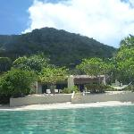 view of our beachfront villa from the water