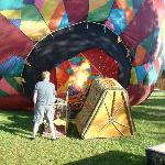 Filling the balloon