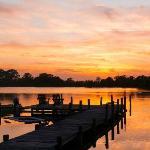 sunset at Tabbs Creek