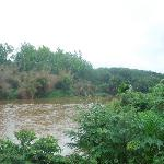 Tunga river in front of the hotel
