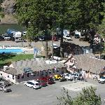 Shot of the Resort Facility. Store, Restaurant, Pool, River and RV Sites