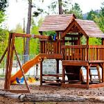 Kids playground near the outdoor heated pool.