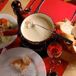 The cheese fondue, specialitie of Heidi's