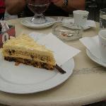 almond and chocolate cake!