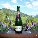 CHAMPAIN READY TO BE ENJOYED ON BALCONY OF OUR SENIOR SUITE TYPE SAANEN NUMBER 414.