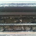 mould - and dirt - on the window frame (from condensation?)